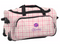 Kids Personalized Rolling Duffel Bag Luggage in Pink Plaid