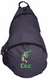 Kids Personalized Sling Backpack in Midnight Blue