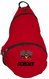 Kids Personalized Sling Backpack in Deep Red
