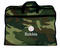Camo kids personalized garment bag with baseball embroidery and name