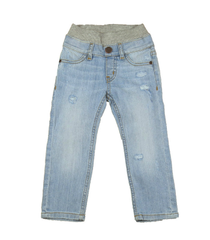 Light Wash Distressed Denim