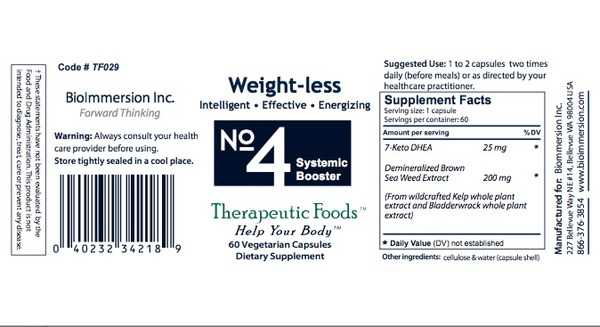 BioImmersion Inc., Weight - Less, No. 4 Systemic Booster