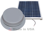 Natural Light 50 Watt Solar Attic Fan - Gray