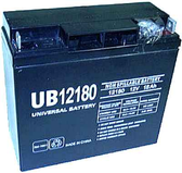 Universal UB12180 12V, 18Ah (20HR) Sealed AGM