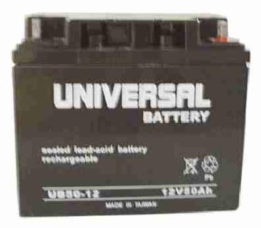 universal battery ub12500 12v 50ah 20hr sealed agm. Black Bedroom Furniture Sets. Home Design Ideas
