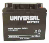 Universal Battery UB12500 12V, 50Ah (20HR) Sealed AGM