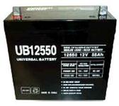 Universal Ub12550 12V, 55Ah (20Hr) Sealed Agm Batt