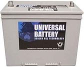 Universal Ub24Gel, 12V,74Ah (20Hr) Sealed Gel Cell