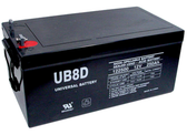 Universal Ub8D 12V, 250Ah Sealed Agm Battery