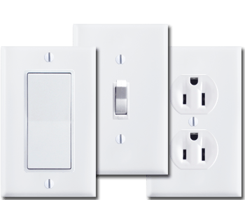 Switch Plates & Outlet Covers, Electrical Outlets & Light Switches:Light Switch Covers in 400 Sizes,Lighting