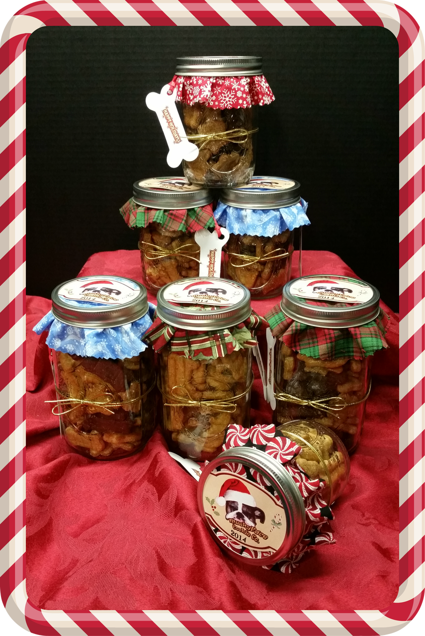 Medium Holiday Gift Jar Mushyface Cookie Co