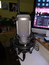 This is the professional microphone I use to record the call. You'll think I'm a radio DJ.