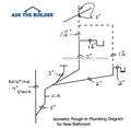 Draw Plumbing Plans 3 Bath House