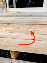 This is a white residue on wood you see after cleaning it.