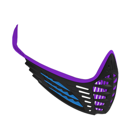 VIO Face Mask - Purple/Cyan/Black
