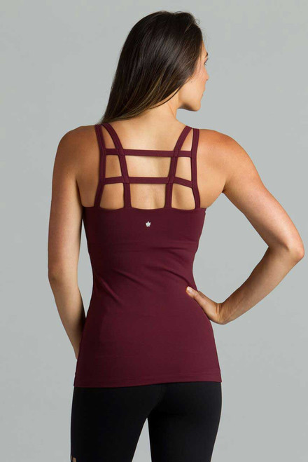 Warrior Caged Yoga Tank (Bordeaux)