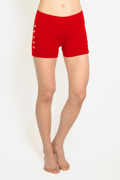 red Warrior Cut out yoga shorts