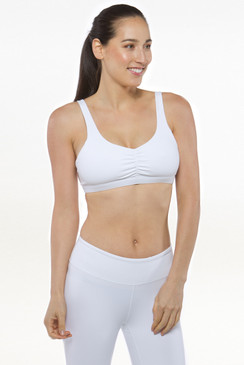White Grace En Pointe Yoga Bra Tops