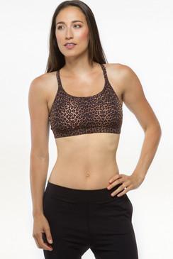 Leopard Flirt Yoga Bra tops
