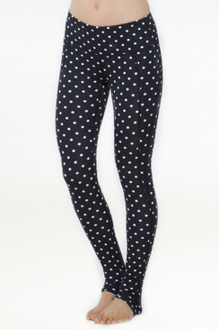 Goddess Ruched Yoga Leggings polka dots