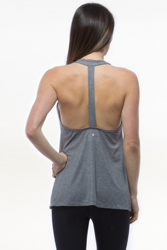 Grey Summer Swing Yoga Tank Tops