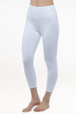 White High Waist Yoga Capris Leggings