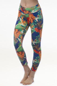 Grace printed yoga capris leggings