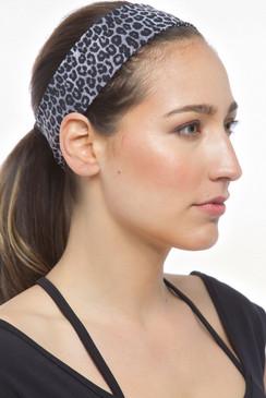 The Flirt Headband (Charcoal Leopard)