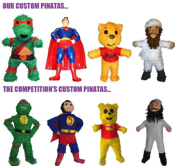 Custom Pinatas customized for your party!