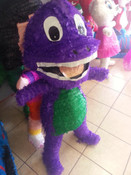 "Purple Dinosaur Pinata - Jumbo 48"""