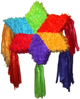 Mexican Multicolored Star Pinata