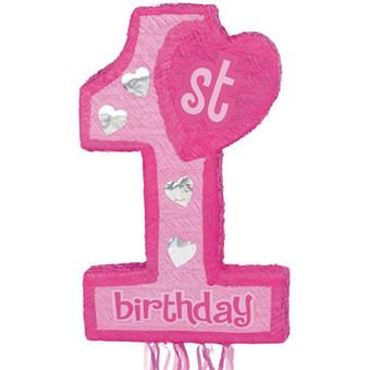 Girl's First Birthday Pinata