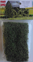 BUSCH 7345 Micro Flock Foliage Sheet (2 Colour Light Green) 25cm x 15cm