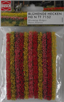 BUSCH 7152 Blooming Hedges 11 Pieces x 9.5cm Long 00/HO/N
