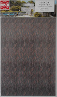 BUSCH 7424 Decor Card (Dark Brick) 2 Sheets 210 x 148mm 00/HO