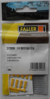 FALLER 272908 Letterboxes (14) 'N' Gauge Plastic Model Accessories