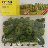 NOCH 32801 Deciduous Trees 3.5cm - 5cm (25) 'N' Gauge