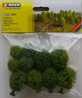NOCH 32901 Deciduous Trees 3.5cm - 5cm (10) 'N' Gauge