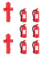 FALLER 180950 Fire Extinguishers & Hydrants 00/HO Plastic Model Kit