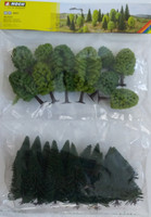 NOCH 26811 Mixed Forest Trees 5cm - 14cm (25) 00/HO Gauge