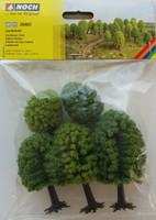 NOCH 26902 Deciduous Trees 5cm - 9cm (5) 00/HO Gauge