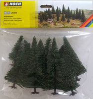 NOCH 26920 Fir Trees 5cm - 14cm (10) 00/HO Gauge