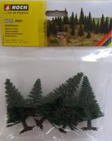 NOCH 26921 Fir Trees 5cm - 9cm (5) 00/HO Gauge