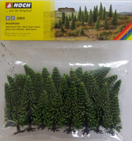 NOCH 32825 Spruce Trees 3.5cm - 9cm (25) 'N' Gauge