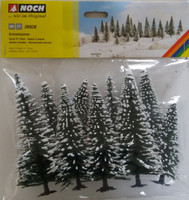 NOCH 26928 Snow Fir Trees 5cm - 14cm (10) 00/HO Gauge