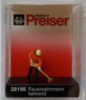 PREISER 28198 Fireman Sweeping 00/HO Model Figure