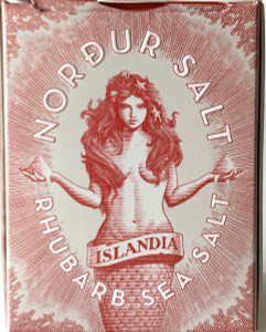 Icelandic Sea Salt - Nordur Actic Sea Salt Flakes - Rhubarb