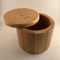 Bamboo Salt Box with Engraved Lid