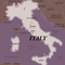 Map of Italy with Umbria region