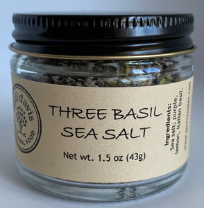 Three Basil Sea Salt | Artisanal Sea Salt Blend
